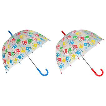 X-brella para crianças/crianças Handprints guarda-chuva