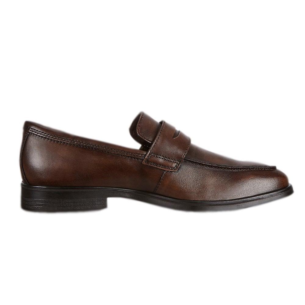 ECCO 621684 Melbourne Penny Saddle Loafer En ambre