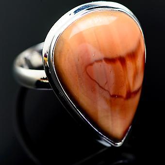 ضخمة الإمبراطورية جاسبر خاتم حجم 15.25 (925 الجنيه الاسترليني الفضة) -- اليدوية بوهو خمر مجوهرات RING999323