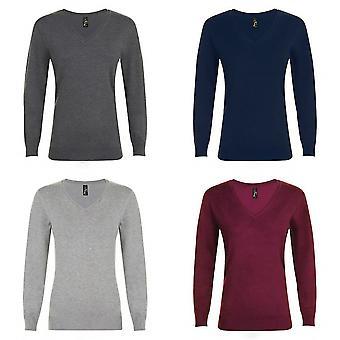 SOLS Womens/Ladies Glory V Neck Sweater