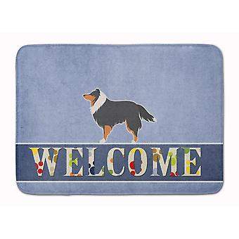Sheltie/Shetland Sheepdog Welcome Machine Washable Memory Foam Mat
