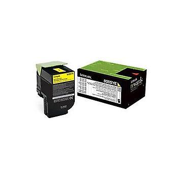 Lexmark 808Sye Yellow Standard Yield Toner Cartridge Corporate