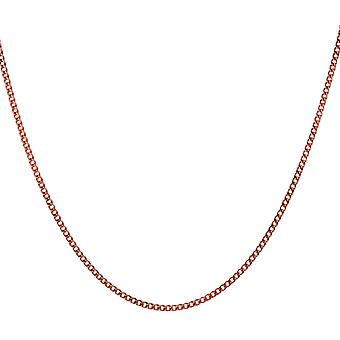 The Olivia Collection Sterling Silver Rose-Goldtone Curb Chain Necklace 16
