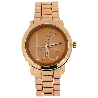 LYDC Ladies Analogue Rose Goldtone Dial & Metal Bracelet Strap Watch LYDC50A