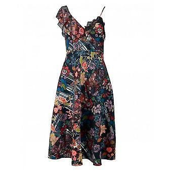 Foxiedox Retro Flower Asymetrische jurk