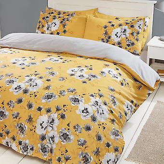 Fotografische Blumen Bettwäsche Set