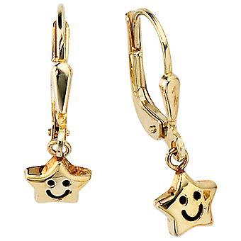 Earrings earrings star SAMMY 333 yellow gold gold