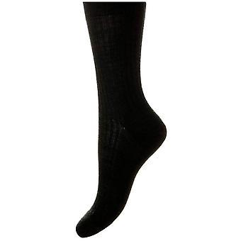 Pantherella Rose Merino Wool Socks - Black