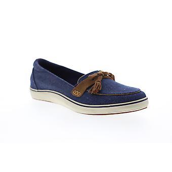 Grasshopper Highview Seasonals  Womens Blue Canvas Loafer Flats Shoes