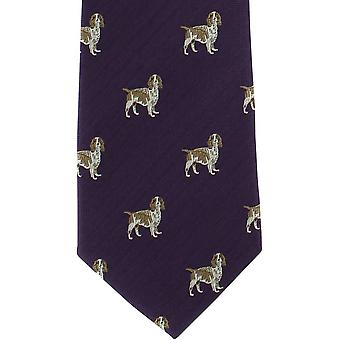 Michelsynové Londýna Beagle Silk tie-fialový