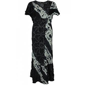 Lauren Vidal Tie Dye Crinkle Maxi Dress