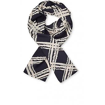 Masai Clothing Along Navy Patterned Scarf