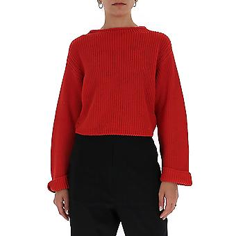 Semi-couture Y0sh11d09 Women's Red Cotton Sweater