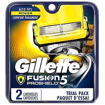 Gillette fusion proshield mens razor blade refills, 2 ea