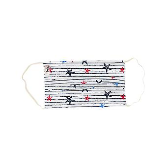 Mio BTS1 Starfish Stripe White Cotton Face Mask with Removable Nose Wire