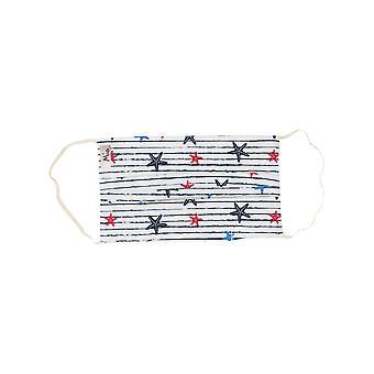 Mio BTS1 Seestern Streifen weiße Baumwolle Gesichtsmaske mit abnehmbaren Nasendraht