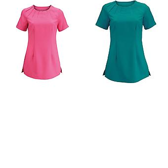Alexandra Womens Satin Trim Tunic / Health Beauty & Spa / Workwear (Pack of 2)