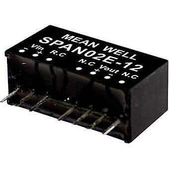 Mean Well SPAN02C-15 DC/DC omvandlare (modul) 134 mA 2 W Nr. av utgångar: 1 x