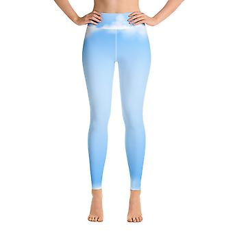 Workout Leggings | Yoga Leggings | Aquarell | Kopf in den Wolken