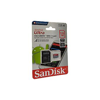 SanDisk Ultra MicroSDXC 128GB Memory Card with MicroSDXC to SD Adapter - Class 10