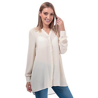 Mujer's Vero Moda Isabella Loose Fit Blusa en Crema