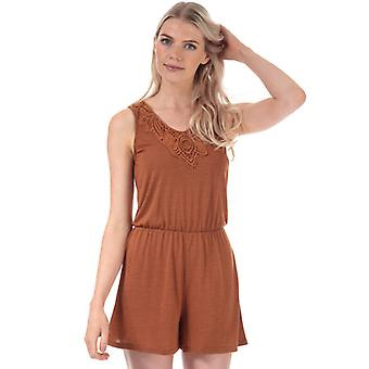 Women's Jacqueline de Yong Dodo Playsuit in Brown