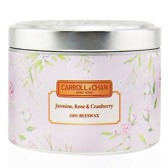 Carroll & Chan 100% Beeswax Tin Candle - Jasmine Rose Cranberry (8x6) cm