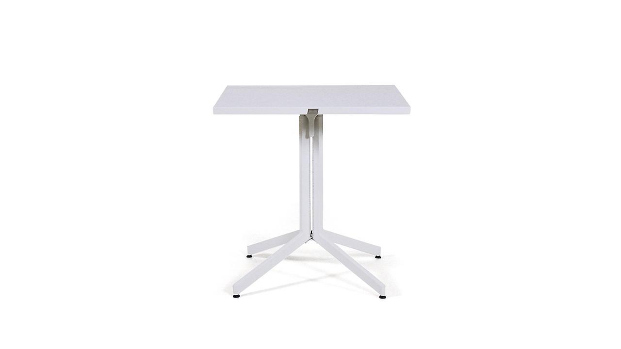 Alu Bistro Esstisch, 70 cm - weiß