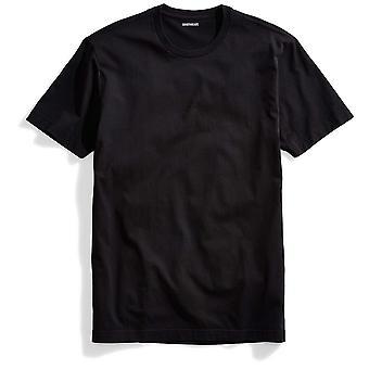 "Goodthreads Men's ""The Perfect Crewneck T-Shirt"" Short-Sleeve Cotton, Black, ..."