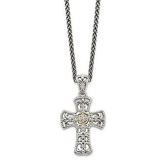 925 sterlinghopeaa 14k diamond uskonnollinen usko rajat riipus kaulakoru korut lahjat naisille
