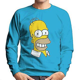 A camisola dos Simpsons sorrindo Homer homens