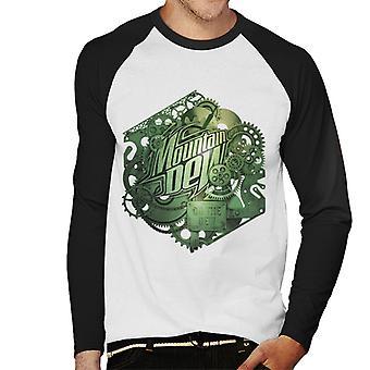 Mountain Dew Cogs Of A Soft Drink Men's Baseball Long Sleeved T-Shirt