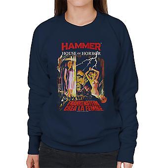 Hammer Frankenstein Crea La Femme Poster Women's Sweatshirt