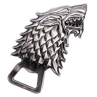 Game Of Thrones Bottle Opener House Stark Emblem new Official Sculpted