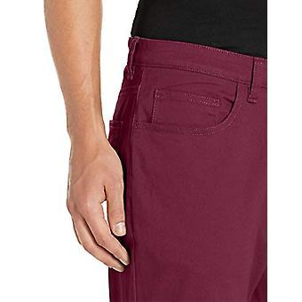 Brand - Goodthreads Men's Athletic-Fit 5-Pocket Chino Pant, Burgundy 30W x 32L