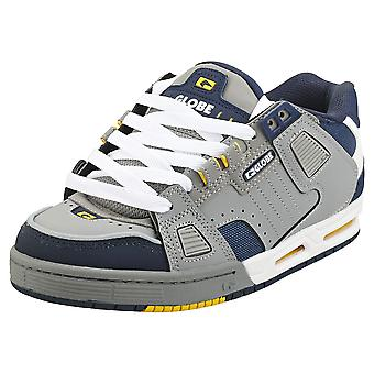 Globe Sabre Mens Skate Trainers in Grey Blue