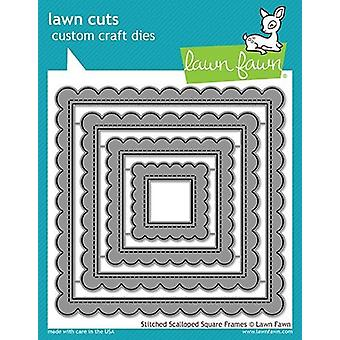 Lawn Fawn Stitched Scalloped Square Frames Dies
