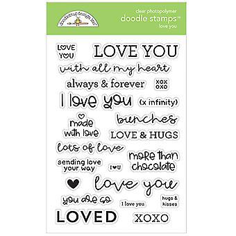 Doodlebug Design Love You Doodle Stamps