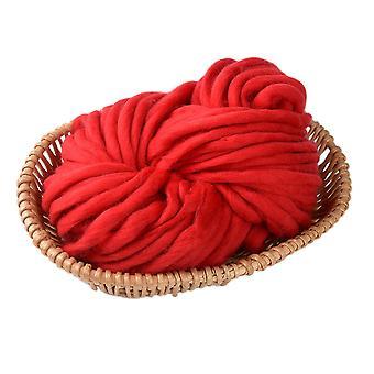Strickgarn Super grob weiche Wolle Garn rot