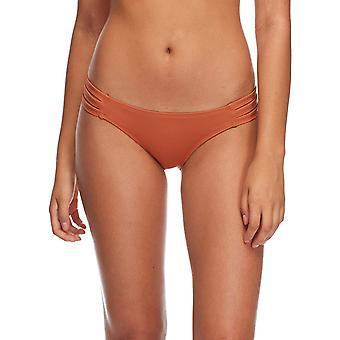 Eidon women's Low Rider Mid Rise Bikini Bottom Swimsuit, Flavors Lava, Medium