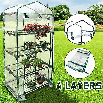 Anti-uv Four Floors Plant Mini Garden Waterproof Greenhouse Cover