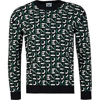 Kenzo All Over Logo Crew Neck Knit