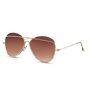 نظارات شمسية للجنسين الطيار البني (CWI1362)