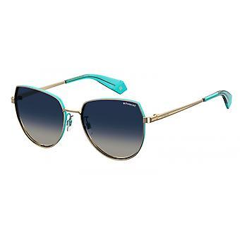 Sonnenbrille Damen  6073J5G/WJ   quadratisch gold/blau
