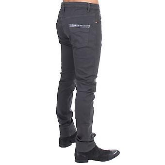 Gray Cotton Stretch Slim Fit Jeans SIG11051-1