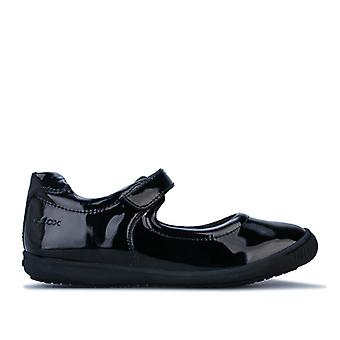 Girl's Geox Junior Gioia Patent Shoe in Black