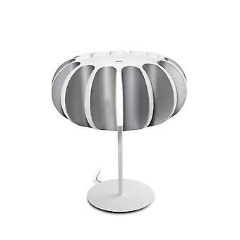 3 Light Table Lamp White, Grey, E27