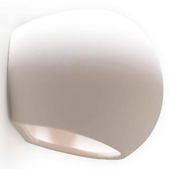 1 Luce Ceramica Flush Wall Light White, E27