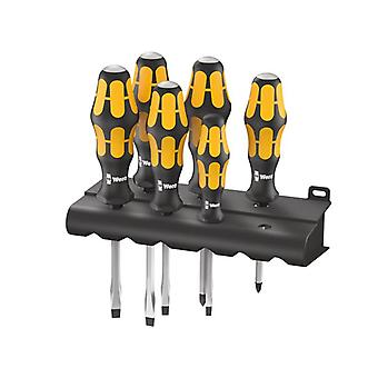 Wera 932/918/6 Kraftform Chiseldriver Set of 6 SL/PZ WER018287