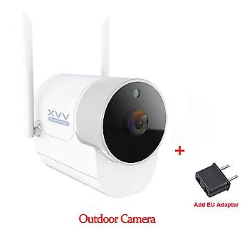 Smart Outdoor Camera -waterproof With 150° Wide Angle And 1080p Wifi Night Vision For  Surveillance